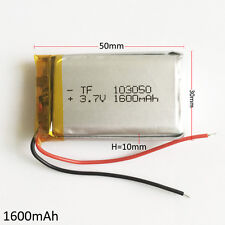 3.7V 1600mAh Lipo Li-polymer Rechargeable Battery for DVD GPS Camera GPS 103050