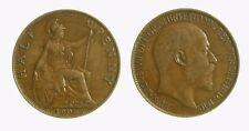pci4377) Great Britain 1907 - King Edward VII - Half Penny 1906