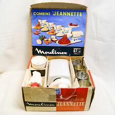 Moulinex Robot Combine Jeannette 115V 220V Vintage Hachoir Grinder 4 Barrels