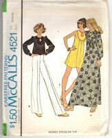 Vintage 1975 McCall's women's dress or top pattern, size medium; CUT