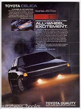 1988 TOYOTA CELICA advertisement, Toyota Celica All-Trac, 4 wheel drive