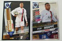2020 Match Attax 101 UEFA Soccer Card Kylian Mbappe Hattrick Golden Moment