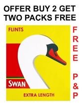 4 X Swan Extra Length Lighter Flints (36) on OFFER Buy 2 Get 2 Packs