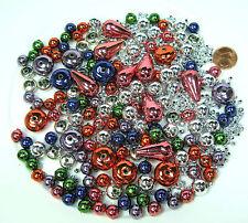 Perlenmix 450 Stück Wachsperlen Bastelperlen bunt silber  3 bis 22mm Nr 93