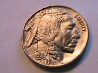 1936-P Buffalo Nickel Ch BU+ Uncirculated Lustrous Original Indian Head 5C Coin