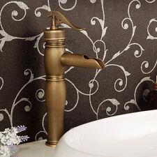 Retro Brass Bathroom Counter Basin Faucet Sink Mixer Tap Single Lever Bibcock