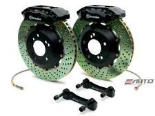 Brembo FRONT GT Brake BBK 4 Piston Black 328x28 Drill Integra 90-01 4x100 DA DC