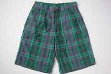 Womens Vintage Duck Head Shorts Green Plaid Size 29 1980s NOS