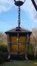 Very pretty unusual 1950's vintage French wrought iron lantern(89)