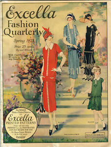 1920s NEW! Excella Spring 1925 Quarterly Pattern Catalog 67 pg Ebook Copy on CD