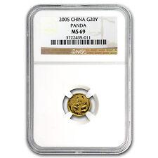 2005 China 1/20 oz Gold Panda MS-69 NGC - SKU #78839