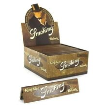 Smoking Rolling Paper Brown Unlbleached King Size Box of 50 Booklets