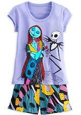 Nightmare Before Christmas Pajamas Set 2 PC Jack Sally Purple XS S M L XL or XXL