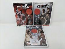 Pride FC Bushido DVDs Vols 1 2 3 - MMA Mixed Martial Arts UFC