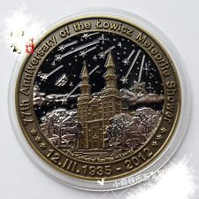 poland 77th Anniversary of the LOWICZ meteorite shower  Meteorite  Medal coin