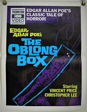 THE OBLONG BOX FF ORIG THORN EMI VIDEO POSTER VINCENT PRICE CHRISTOPHER LEE 80s