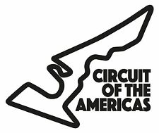 CIRCUIT OF THE AMERICAS. Car vinyl sticker F1 USA race Grand Prix Formula One