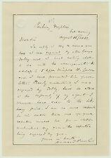 RARE Autograph Letter Signed - FAMOUS Actor - Henry Howard PAUL - 1862 - Affair