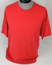 VINTAGE FRUIT OF THE LOOM EASY TO WEAR MENS PLAIN RED T-SHIRT SIZE XL