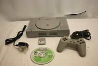 Sony PLAYSTATION 1 SCPH-5502 Pal PS1 Consola & Controlador & Game & Memeory