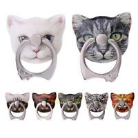 Cute Cat 360° Grip Finger Ring Mobile Phone Stand Holder for iPhone Cell Phone