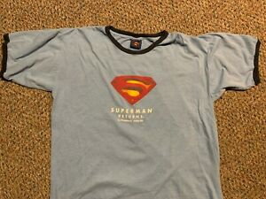 SUPERMAN RETURNS rare promotional ringer t-shirt Adult XXL Pepsi