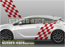 Vauxhall Opel Astra 009 side racing flag squares decals graphics stickers