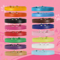 PU Leather Pet Dog Collar For Small Large Dog Neck Strap Puppy Kitten Cat Collar