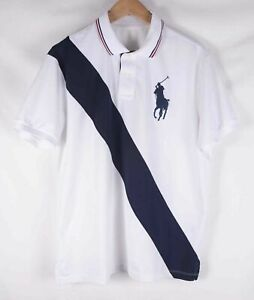 *** Ralph Lauren Polo Performance White Big Logo Pony Size L *C0420a6