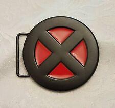 """X-Men Belt Buckle Red & Black """"X"""" Buckle Very Good Pre-Owned-Cosplay"""