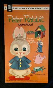 1962 DELL PUNCHOUT BOOK PETER RABBIT ORIGINAL UNPUNCHED
