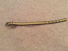 Fox & Hound Yellow Polka Dot Dog Collar with Silver Dog Bone 12 inch