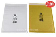 Genuine Jiffy Airkraft Bags White Gold Padded Envelopes *All Sizes*