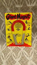 "Vtg ""Giant Magnet"" 5"" Horseshoe for Expierments,Tricks,Magic 1964 USA made NOS"
