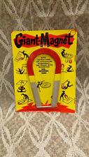 """Vtg """"Giant Magnet"""" 5"""" Horseshoe for Expierments,Tricks,Magic 1964 USA made NOS"""