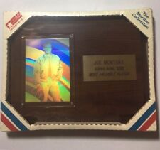 Super Bowl Most Vaulable Player Plaque Joe Montana Starline Collection (new)