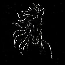 Horse Hotfix Crystal Rhinestone Heat Transfer Iron on Patches For Garment