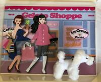2018 Barbie Convention Gelato Shoppe Gift Set On the Avenue w/ White Poodle Dog