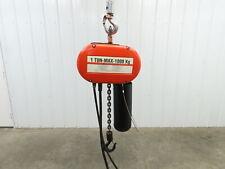 Cm Lodestar Model L 1 Ton 2000lb Electric Chain Hoist 3ph 14 Lift