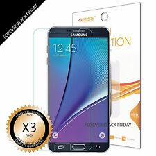 Samsung Galaxy Note 5 Screen Protector 3x Anti-Scratch HD Clear Cover Guard Film