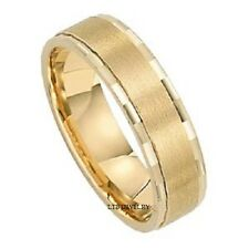 18K SOLID YELLOW GOLD MENS WOMENS WEDDING BANDS RINGS SATIN FINISH 6MM
