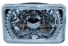 "(1) 4X6"" White LED Halo Drl Halogen Headlight Headlamp Light Bulb Crystal Clear"
