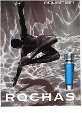 PUBLICITE ADVERTISING 1995 AQUAMAN  eau de toilette pour homme de ROCHAS
