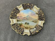 New listing Antique Aynsley English Porcelain Cobalt Gold Plate Painted Lake Loch Lomond