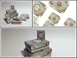 Dolls house printie KIT - Shabby Chic Gift Boxes - FREE UK POST
