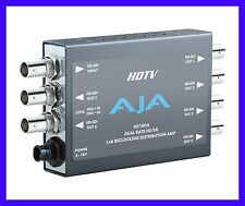 AJA HD10DA 1x6 SD/HD Dual Rate Distribution Amplifier Auto Equalizer to 125M NEW