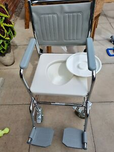 Commode wheel chair Aidapt Portable Shower Commode WheelChair