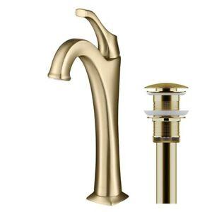 Kraus KVF-1200BG Arlo Bathroom Faucet Brushed Gold