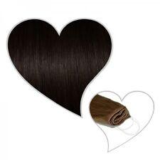 Easy Flip Extensions in schwarzbraun #1b 60 cm 130 Gramm Echthaar Hair Secret