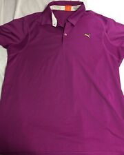 Fila Mens USP DRY Purple polo Golf Athletic Shirt size XL